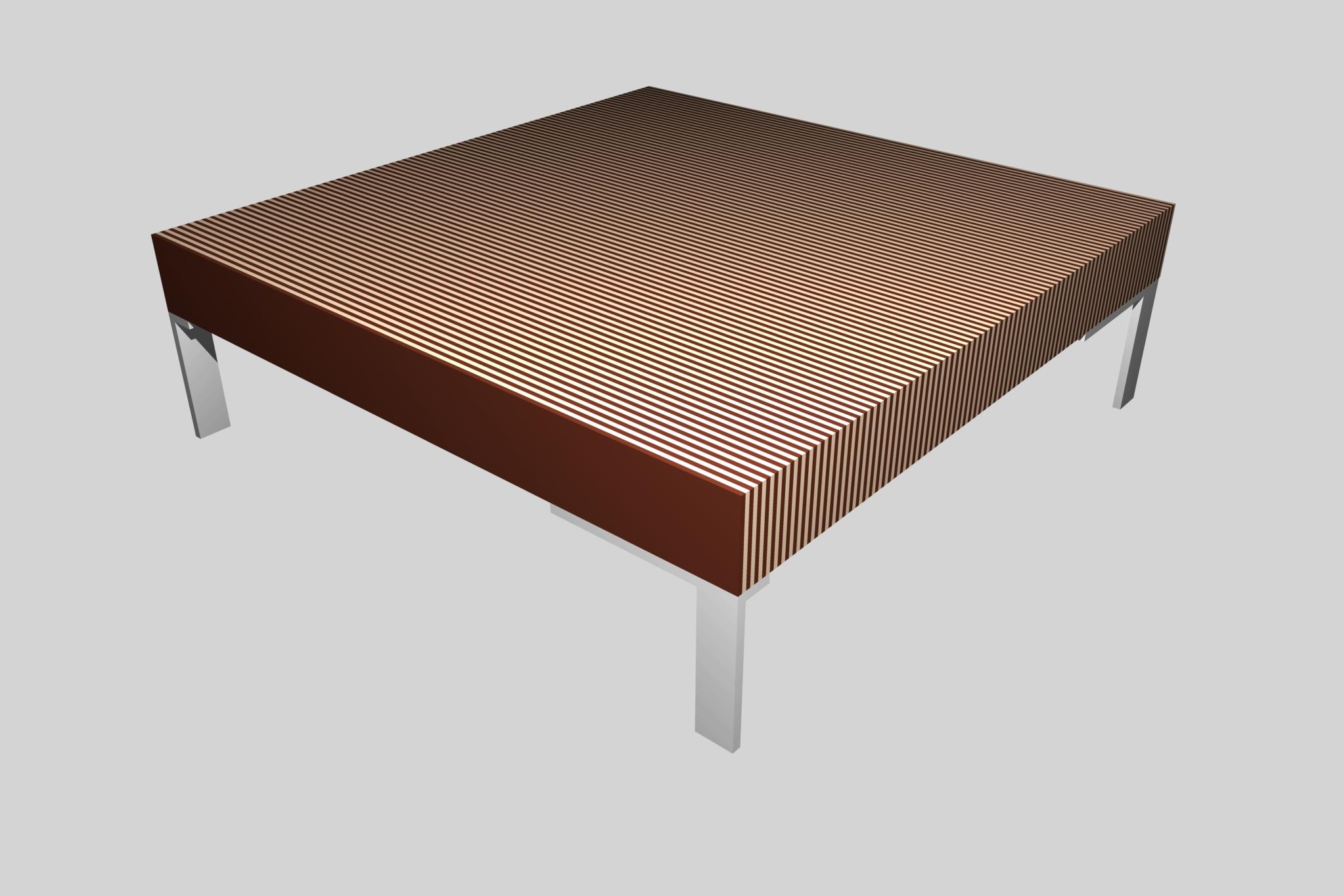 Salontafel multiplex vierkant 2 rob kwak meubelontwerp for Salontafel vierkant